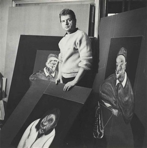 francis bacon in his studio by cecil beaton