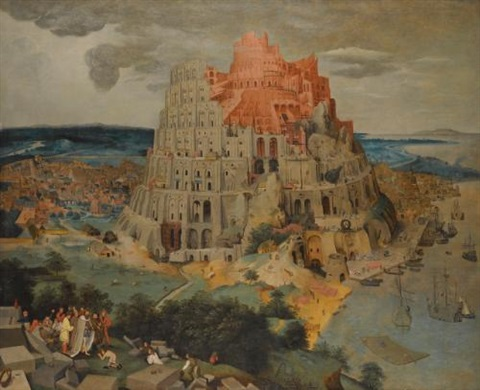 the tower of babel by pieter brueghel the younger