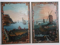 scènes panoramiques (pair) by anonymous (18)
