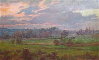 french landscape by charles-jean agard