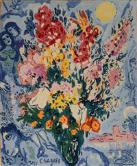 le bouquet enluminant le ciel by marc chagall