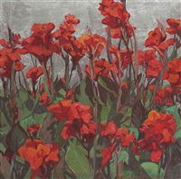 red cannas by jane peterson