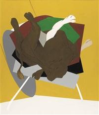 untitled (falling bull) by tyeb mehta