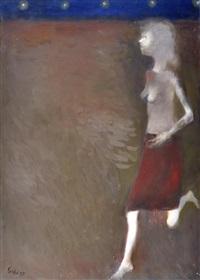 una donna attraversa la strada by raffaele lippi