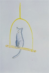 untitled (cat on perch) by vivienne shark lewitt