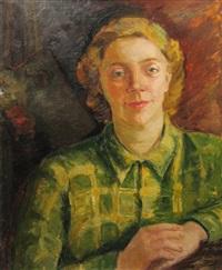 painter ecaterina (cristescu) delighioz's portrait by aurelia vasiliu aricescu