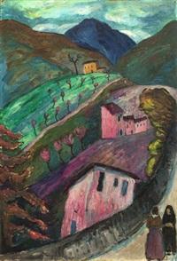 berglandschaft bei oschwand by marianne werefkin