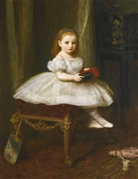 portrait of miss davison by sir john everett millais