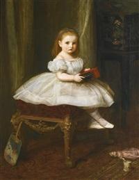 portrait of miss davison by sir john everett millais