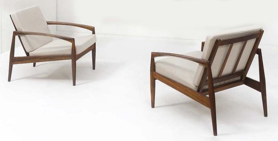 Paire de fauteuils modèle 121-Paper Knife Serie set of 2 par Kai ...