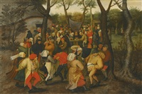 the outdoor wedding dance by pieter brueghel the younger