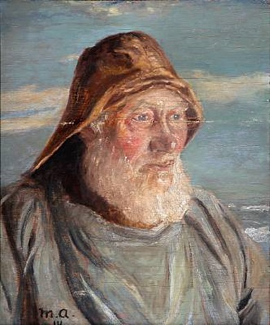 an old skagen fisherman by michael peter ancher