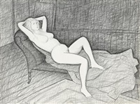 study for the mertz nude by john brack