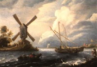 paysage fluvial by bonaventura peeters the younger