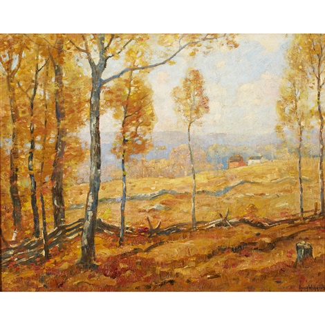 golden autumn lyme conn by guy carleton wiggins