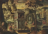 an allegory with scenes from the life of a young nobleman by hispano-flemish school (17)