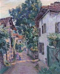 une rue à epinay sur orge by armand guillaumin