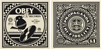 obey records (2 works) by shepard fairey
