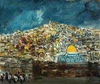 prayers at the western wall by yitzhak frenkel-frenel