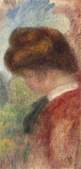 etude de jeune femme (mi-buste, profil gauche) by pierre-auguste renoir