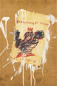 heavyweight crown king of boxing by jean-michel basquiat