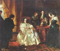 the despair of henrietta maria over the death of her husband king charles i by henrietta may ada ward