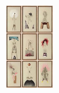 the original nine daughters (in 9 parts) by wangechi mutu