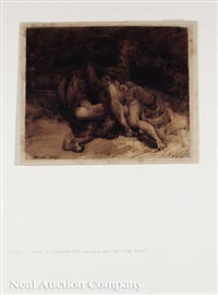 a group of recumbent figures huddled among blankets by james barry