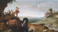 die heilige familie auf der flucht nach ägypten by cornelis van poelenburgh