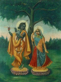 radha & krishna by indian school-bengal (19)