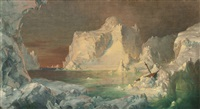 final study for the icebergs by frederic edwin church