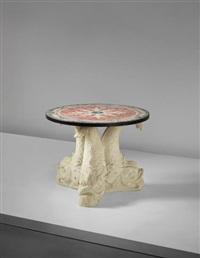 table, designed for the apartment of ismael de la serna, granada by serge roche