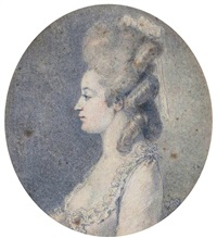 portrait présumé de mlle liozin by augustin de saint-aubin