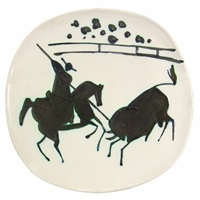 picador et taureau/picador and bull by pablo picasso