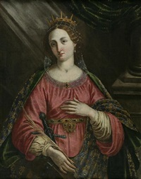 saint catherine of alexandria by jacopo (da empoli) chimenti