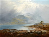 the silver strand, loch katrine by george blackie sticks