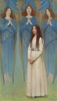 a vision of angels by thomas cooper gotch