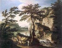paysage de la campagne italienne à la cascade by antonio cioci