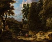 paisaje con personajes by jan baptist huysmans