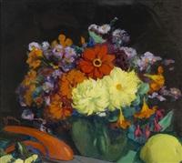 le vase de dahlias by etienne drian