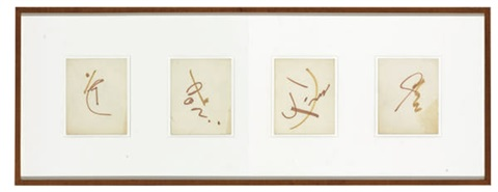 untitled (4 works) by merce cunningham