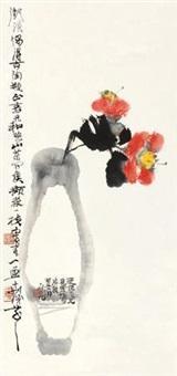 古陶山茶 立轴 设色纸本 by cheng shifa