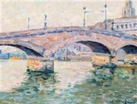 rouen, pont de pierre by maximilien luce