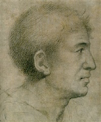 the head of a man, seen in profile by giuliano bugiardini