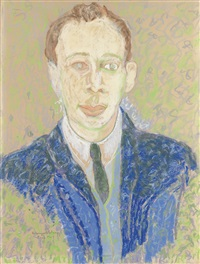 portrait of richard a. long by beauford delaney