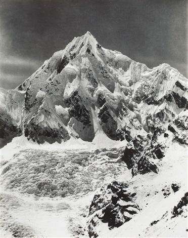 siniolchu taken from the top of the zemu glacier by vittorio sella