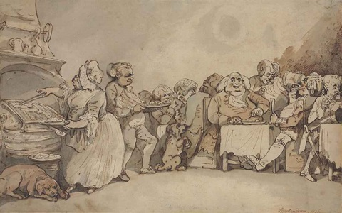 a city chop house dr johnson at dinner by thomas rowlandson