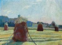 sheafs in the field by stanislaw kamocki