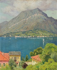 lake como by charles warren eaton