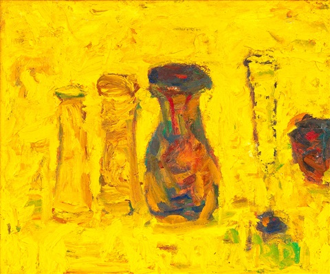 yellow still life by rafael wardi